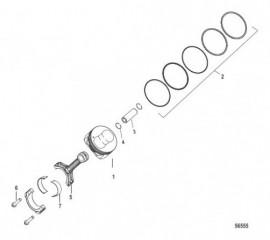 Схема Pistons and Connecting Rods