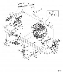 Стандартная система охлаждения (Семиточечный слив)