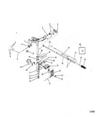 Шарнирный кронштейн и рукоятка рулевого механизма