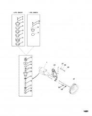 Схема Насос для забортной воды в сборе (Исп. с двигателями Bravo)