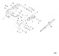 Кронштейн переключения передач (С/н-0M659999 и ниже)