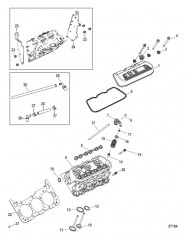 Схема Cylinder Head and Rocker Cover