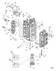 Блок цилиндров и колпачок
