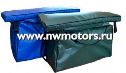 Накладка с сумкой на лодочное сиденье, длина  60-70 см, ширина 20-22 см