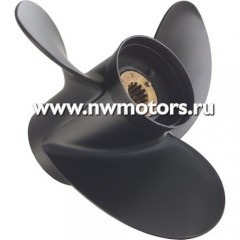 Алюминевый гребной винт Quicksilver Black Diamond, трехлопастной, диаметр 14.25, шаг 21, вращение П